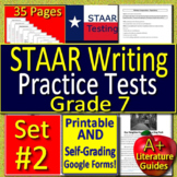 7th Grade STAAR Writing Test Prep #2 -  Revising and Editing Practice