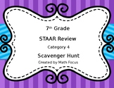 7th Grade Math Scavenger Hunt STAAR category 4