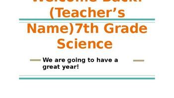 7th Grade Science Bellringer or Warm Up
