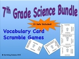 7th Grade Science Bundle: Vocabulary Card Scramble Games (13 Sets)