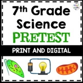 7th Grade Science Pretest (All NC Essential Standards) - Print and Digital