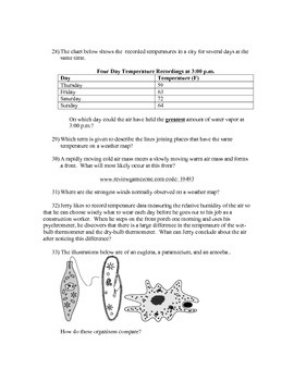 7th Grade Science Ready Common Exam Review Guide