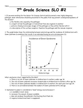 7th Grade Science SLO #2