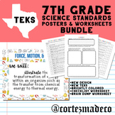 """7th Grade """"We Will"""" Science Standards TEKS Content Objectives Bundle (2019)"""