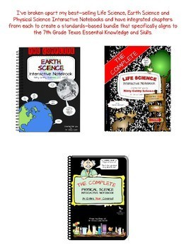 7th Grade Science TEKS - Science Interactive Notebook