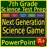 7th Grade Science Test Prep Game: Review NGSS Units - Google Classroom Ready!