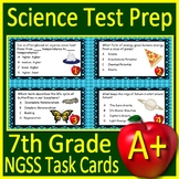 7th Grade Science Test Prep Task Cards: NGSS Middle School Next Generation