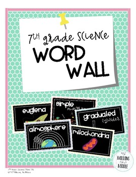 7th Grade Science Word Wall