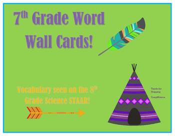 7th Grade Science Word Wall (That will be on 8th Grade Sci