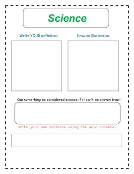 7th Grade Science and Scientists Vocabulary Packet