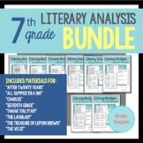 7th Grade Short Story Literary Analysis Graphic Organizers Bundle