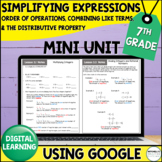 7th Grade | Order of Operations and Expressions Mini Unit