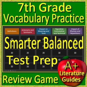 photo about Caaspp Practice Tests Printable named 7th Quality Smarter Nutritious Consider Prep Examining Vocabulary Recreation - SBAC CAASPP