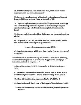 7th Grade Social Studies Common Exam Review Guide
