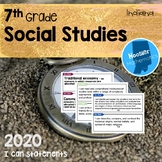 7th Grade Social Studies I Can Statements (Indiana)