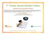 7th Grade Social Studies Performance Tasks