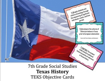 7th Grade Social Studies TEKS Objective Posters