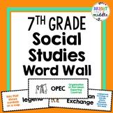 7th Grade Social Studies Word Wall