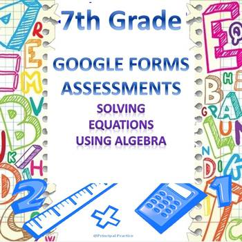 7th Grade Solving Equations Using Algebra Quick Check Goog
