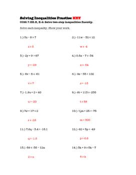 7th Grade Solving Inequalities Lesson: FOLDABLE & Homework