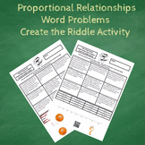 7th Grade Solving Proportional Relationships Word Problems Create the Riddle