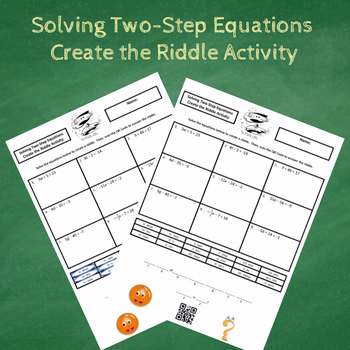 7th Grade:  Solving Two-Step Equations Create the Riddle Activity