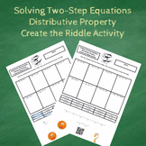 7th Grade:  Solving Two-Step Equations Distributive Proper