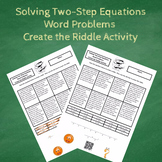 7th Grade:  Solving Two-Step Equations Word Problems Create the Riddle Activity