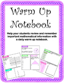 7th Grade Spiral Math Review Daily Notebook