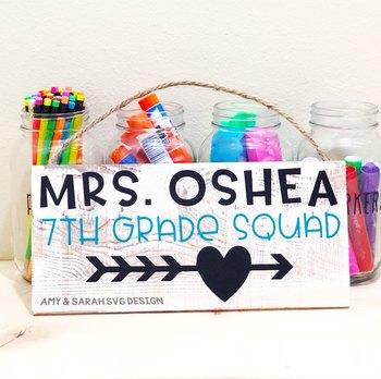 7th Grade Squad SVG Design
