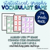 7th Grade Statistical Graph Matching Vocabulary Game