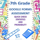 7th Grade Statistics and Probability Google Forms Assessment