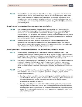 7th Grade Statistics and Probability Lessons, Worksheets, and Exit Tickets