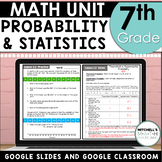 7th Grade Probability and Statistics Unit Using Google