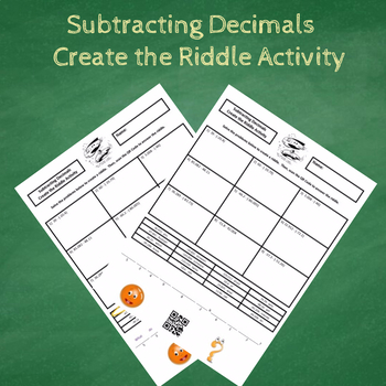 7th Grade Subtracting Decimals (Including Negatives) Create the Riddle