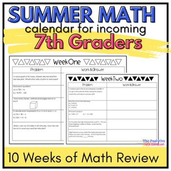 Summer Math Calendar Worksheets & Teaching Resources | TpT