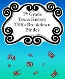 7th Grade TEKs Breakdown Binder