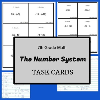 7th Grade Task Cards:  Number System - CCSS Aligned