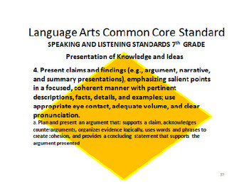 7th Grade Technical Subjects ELA Common Core Standards