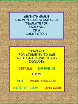 7TH ANALYSIS TEMPLATE FOR ANY SHORT STORY