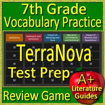 7th Grade TerraNova Test Prep Vocabulary Practice Review Game Terra Nova
