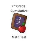 7th Grade Test