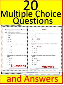 7th Grade Math Unit 3: Expressions + Equations Grade 7 Test Prep  Standardized