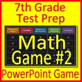 7th Grade Test Prep Math Game #2 Spiral Review CCSS Smarter Balanced Math