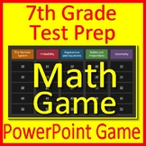 7th Grade Math Test Prep Game Spiral Review CCSS Smarter Balanced