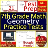 7th Grade Math Test Prep: Geometry - Standardized Testing Practice Google Ready