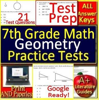 7th Grade Math Unit 4: Geometry - Grade 7 Test Prep Standardized - Google  Ready