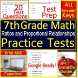 7th Grade Math Test Prep: Ratios + Proportional Relationships Standardized Prep