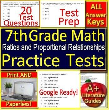 7th Grade Math Test Prep: Ratios + Proportional Relationships Standardized Prep