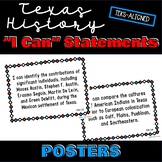"""Texas History TEKS """"I Can"""" Objective Statement Posters and"""
